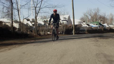 Man Riding Bicycle Stock Footage Collection by L&S Studios