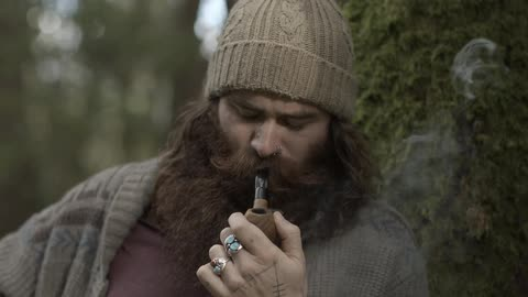 bearded man in woods stock footage collection by matthew p rojas